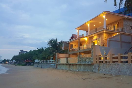 Beach front 3 storey house